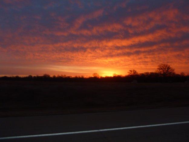 Sunrise over Kansas