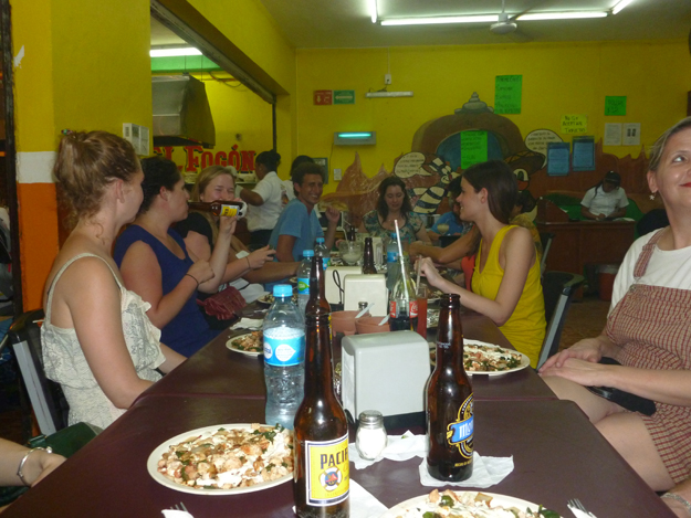 "A great meal with Wandering Earl and his ""Wander Across Mexico"" group"