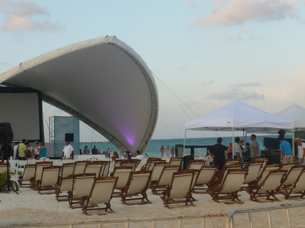 Movies on the Beach in Playa del Carmen