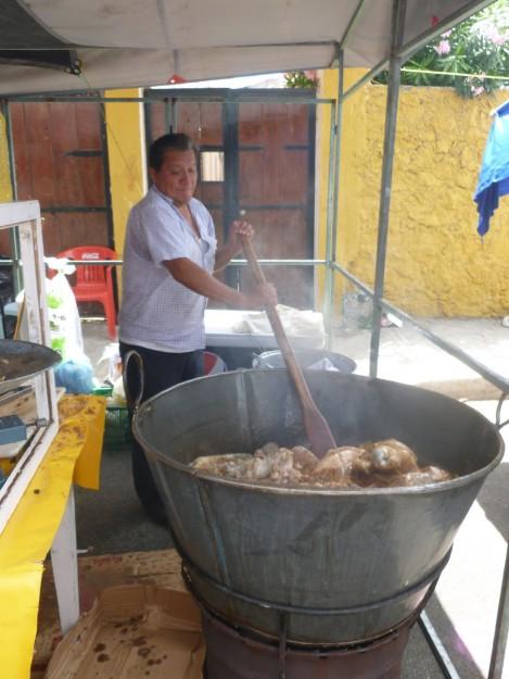 Cooking at the Mercado