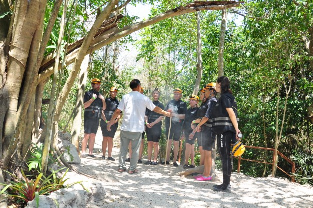 Before entering we participated in a Mayan ceremony asking the gods permission to enter the underground river and to keep us safe.