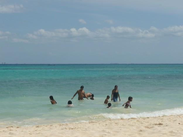 Playa del Carmen Beach Scene