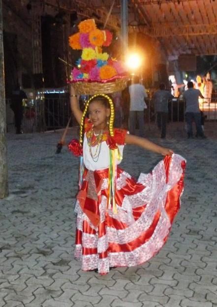 Girl Dancing at Playa del Carmen Fair
