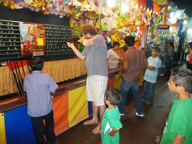 Jason Playing Games at Playa del Carmen Fair