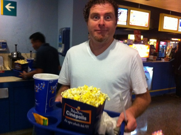 Concessions at the movies in Playa del Carmen