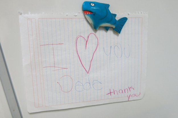 Heart? Melted. FYI, Deidre is a mouthful here, in the States too for that matter, so the kids in the classroom are using DeDe (same as the nieces and nephews back home). Currently hanging proudly on the fridge.