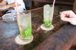 Mojitos are made with yerba buena rather than mint.