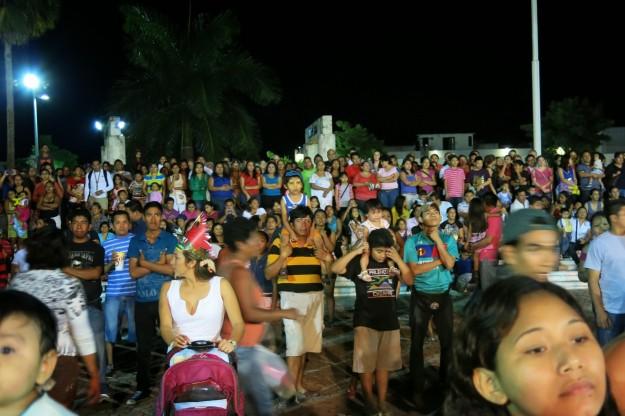 Carnaval Crowd in Playa del Carmen