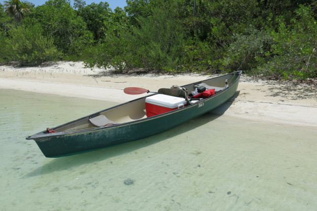 Canoeing Chetumal Bay