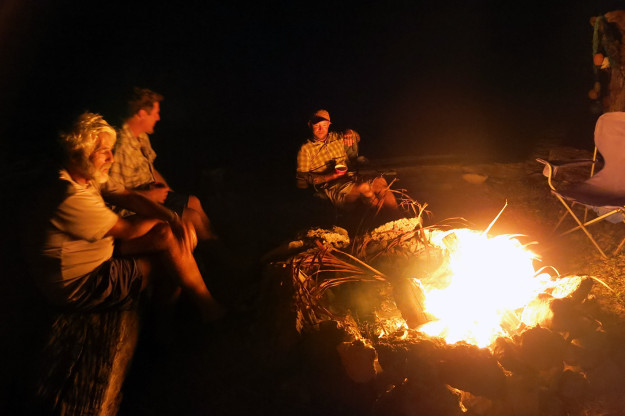 Campfire in Xcalak