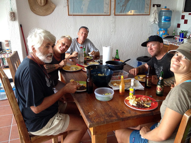 Fish fry in Xcalak