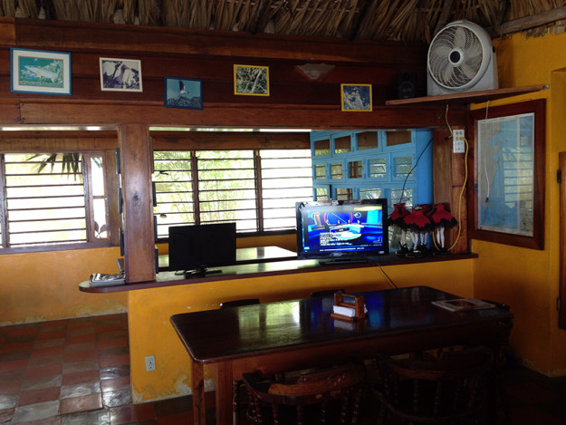 Watching Football in Xcalak