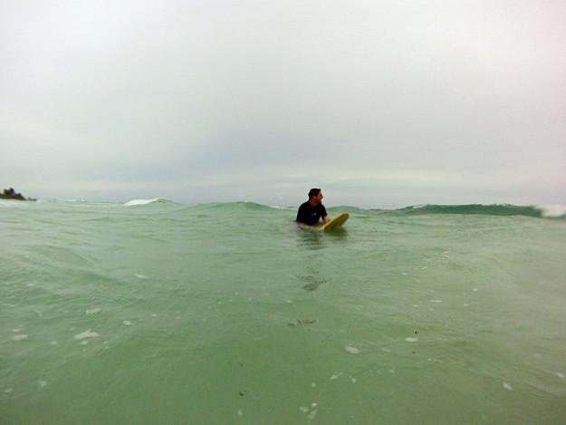 Surfing in Xcalak
