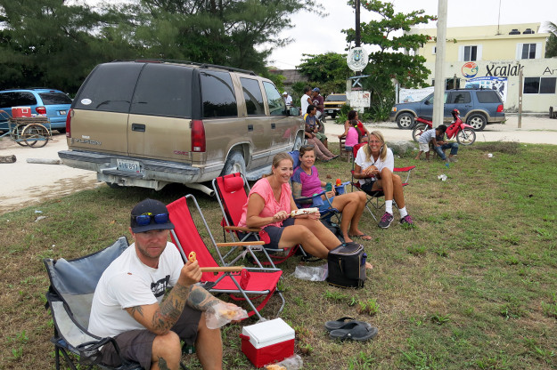 Tailgating in Xcalak