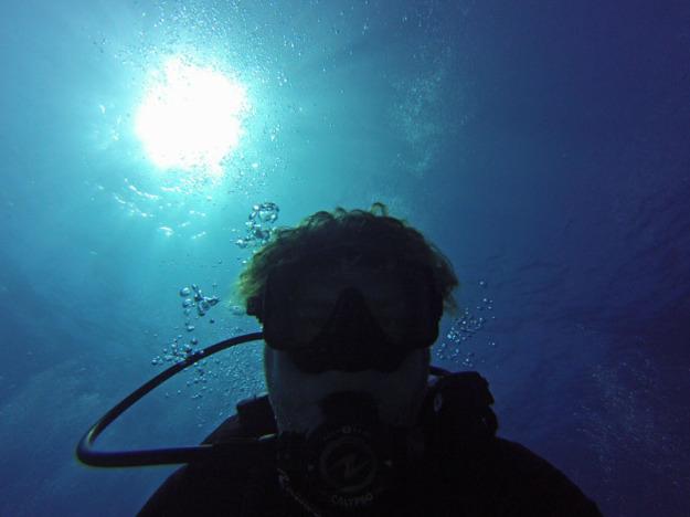 Jason diving Banco Chinchorro