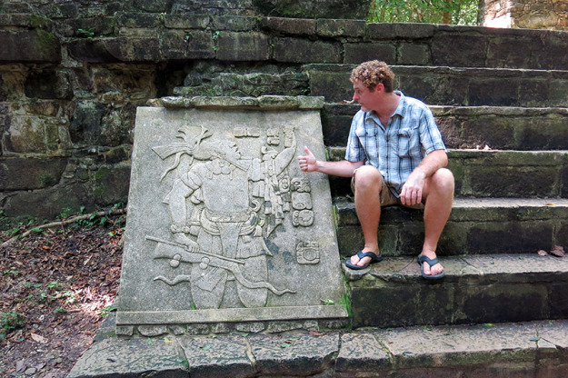 Jason at Palenque