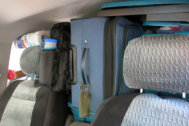 A packed car