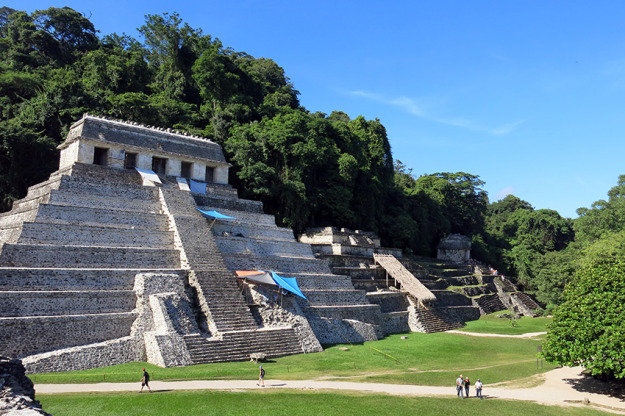 Work on ruins of Palenque.