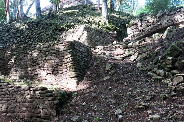 Partially uncovered ruins at Palenque