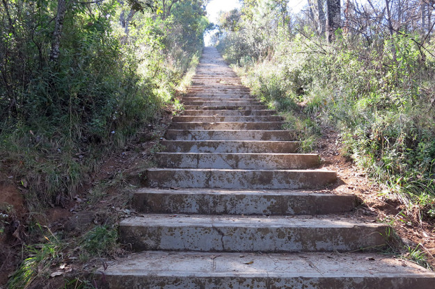 Stairs at El Estribo
