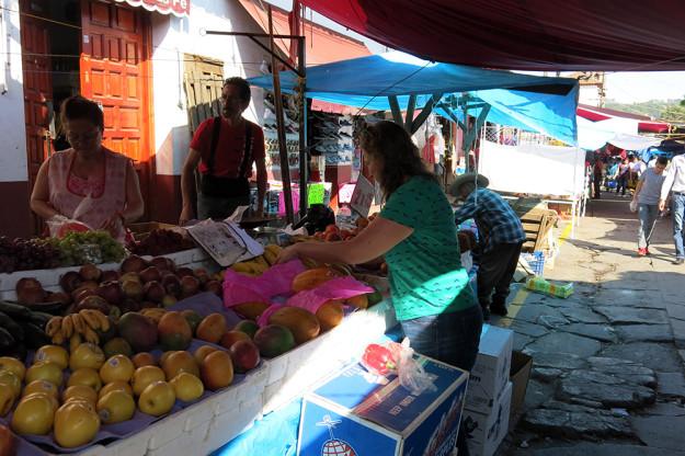 Buying Fruit at the Patzcuaro Mercado