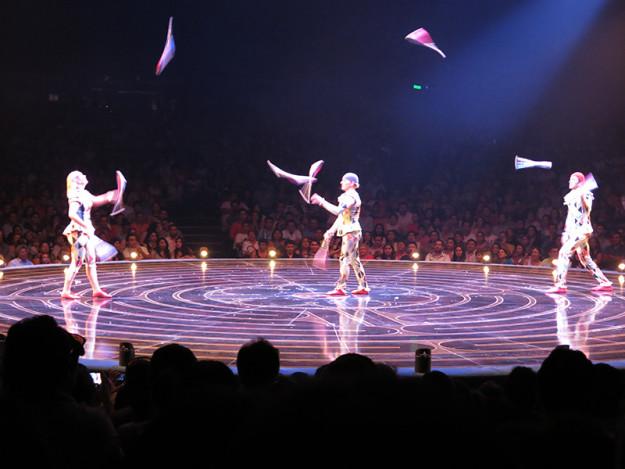 Juggling at Cirque du Soleil Show