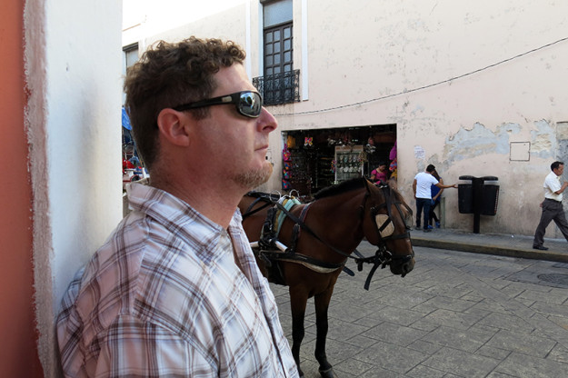 Jason and a Horse in Merida