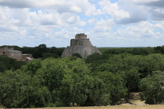 view from governors palace uxmal
