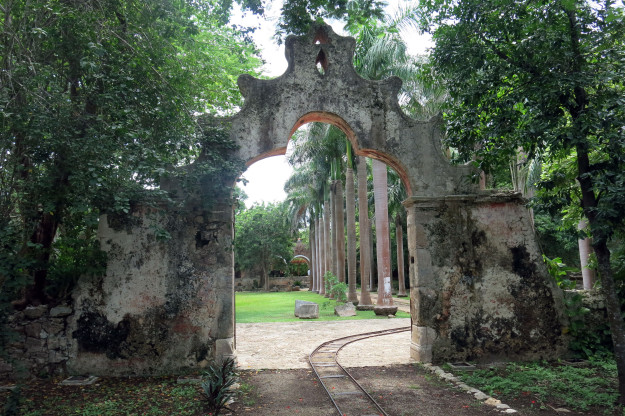 Entry to Hacienda San Pedro Ochil