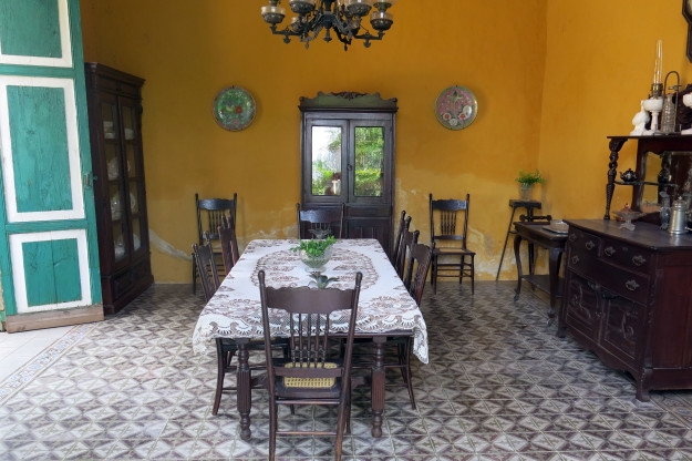 Dining room at Hacienda Yaxcopoil