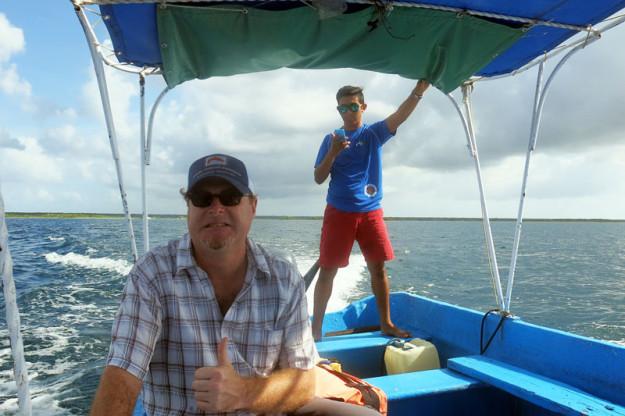 Boat Ride on Bacalar Lagoon