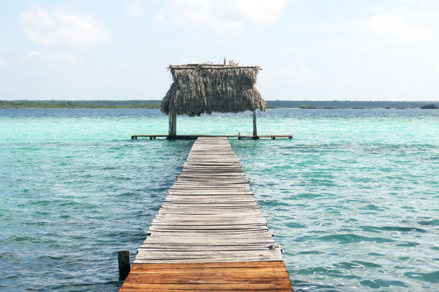 Pier on Bacalar Lagoon