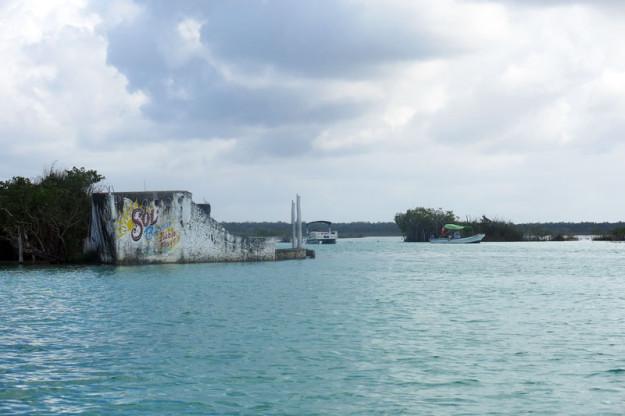 Pirate Cut in Bacalar Lagoon