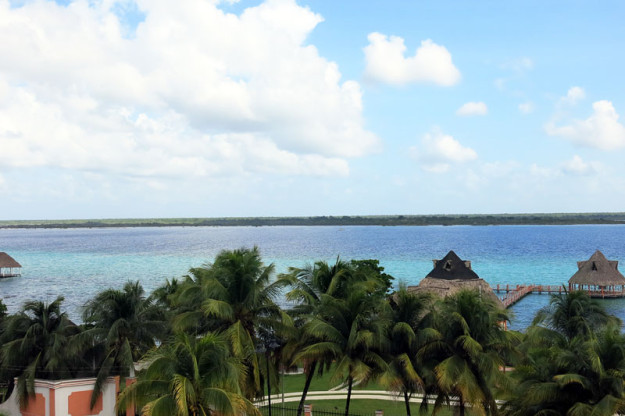 View of Bacalar Lagoon from Fort San Felipe