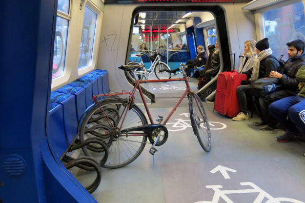Subway bike car in Copenhagen