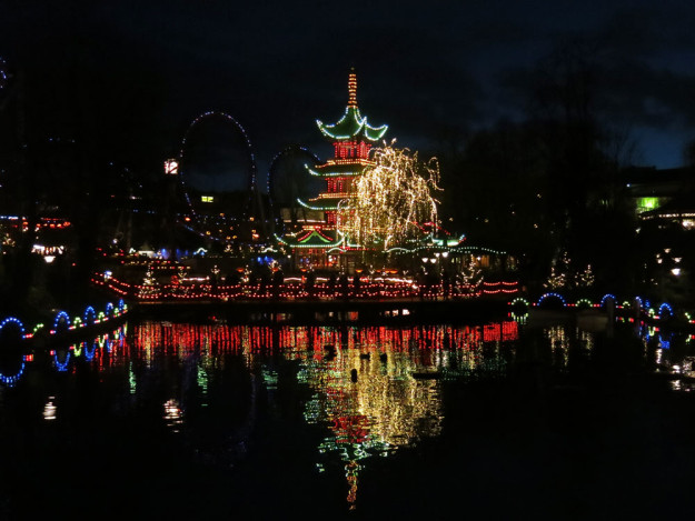 Christmas lights at Tivoli