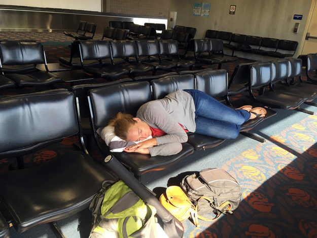 Sleeping at the Maui Airport